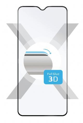 Fixed Ochranné tvrzené sklo 3D Full-Cover pro Samsung Galaxy A71, s lepením přes celý displej, černé FIXG3D-487-BK