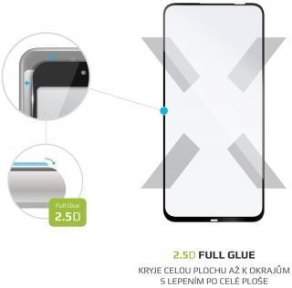 Fixed Ochranné tvrzené sklo Full-Cover pro Huawei P40 Lite, lepení přes celý displej FIXGFA-505-BK, černé - rozbaleno