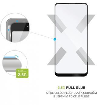Fixed Ochranné tvrzené sklo Full-Cover pro Samsung Galaxy A11, lepení přes celý displej, černé FIXGFA-508-BK