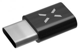 Fixed Redukce pro nabíjení a datový přenos z microUSB na USB-C 2.0, černá FIXA-MTOC-BK - rozbaleno
