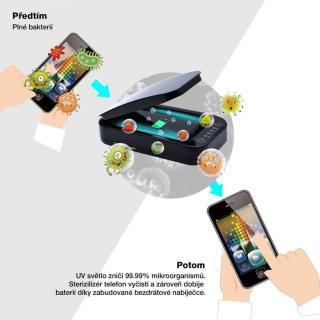 Fixed UV sterilizér pro mobilní telefony s nabíjením FIXSTE-WH, bílý