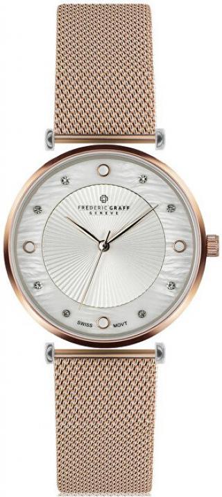 Frederic Graff Rose Jungfrau Lychee Rose gold Mesh FBS-3218