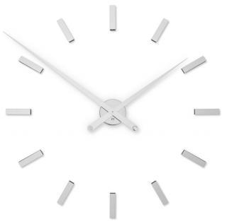 Future Time Designové nalepovací hodiny FT9100SI Modular Chrome 85 cm - rozbaleno