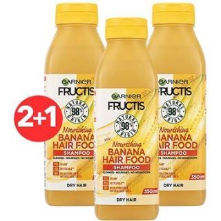 GARNIER Fructis Hair Food Nourishing Banana Shampoo 3 × 350 ml