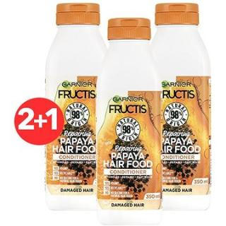 GARNIER Fructis Hair Food Repairing Papaya Conditioner 3 × 350 ml