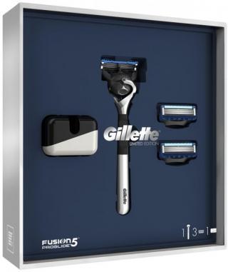Gillette Dárkové Balení fusion5 Proglide Chromovaný Holicí Strojek   2 Holicí Hlavice   Stojan