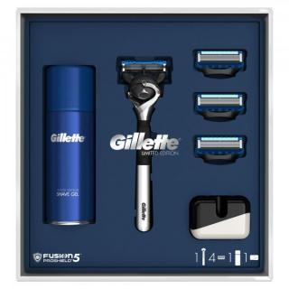 Gillette Dárkové Balení fusion5 Proshield Chill Chromovaný Holicí Strojek   3 Holicí Hlavice