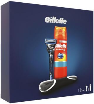Gillette Dárkové Balení fusion5 Proshield Chill Holicí Strojek   Gel Na Holení