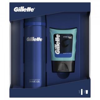 Gillette Dárkové Balení Sensitive Gel Na Holení   Balzám Po Holení Gel