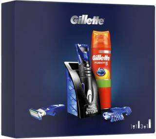 Gillette Dárkové Balení Víceúčelový Styler   Sensitive Gel Na Holení