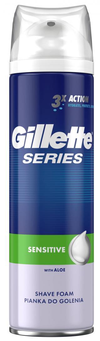 Gillette Series Sensitive pěna na holení 250ml,Gillette Series Sensitive pěna na holení 250ml