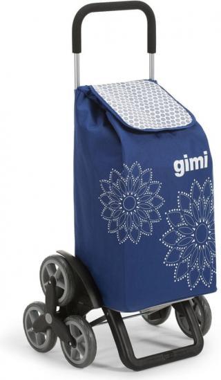 Gimi Tris 56 l Floral nákupní taška modrá - rozbaleno