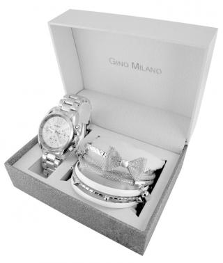 Gino Milano dámská sada hodinek a 6 náramků MWF14-028B - zánovní