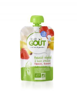 Good Gout BIO Ovesný dezert s jahodou a banánem 90g