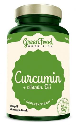 GreenFood Curcumin   vitamín D3 60 kapslí