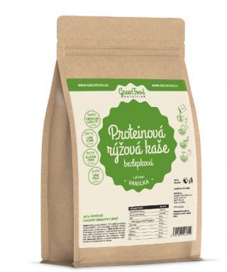 GreenFood Nutrition Proteinová rýžová kaše bezlepková vanilka 500g