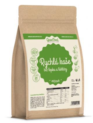 GreenFood Nutrition Rychlá kaše bez lepku a laktózy rýžová 500g