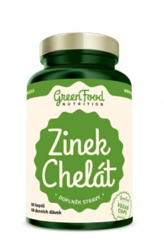 GreenFood Nutrition Zinek Chelát 60cps