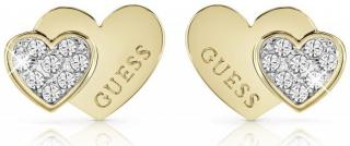 Guess Romantické pozlacené náušnice UBE84119A