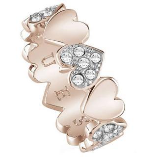 Guess Romantický prsten Heart Bouquet UBR85025 50 mm