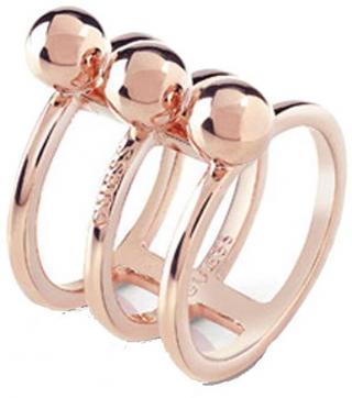 Guess Trojitý bronzový prsten UBR85017 54 mm