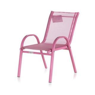 Happy Green Stohovatelná dětská zahradní židle NIKKI růžová - zánovní