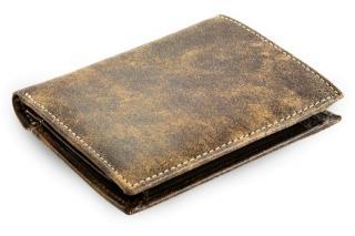 Hnědá pánská kožená peněženka Flerel