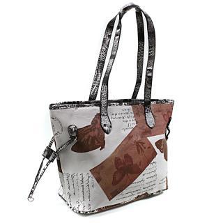 Hnědošedá dámská kabelka přes rameno Hufie