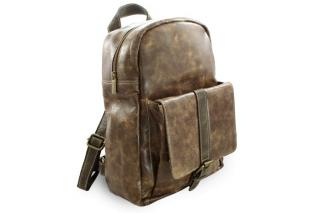 Hnědý kožený batoh Fridlie