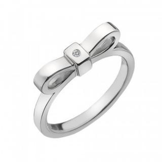 Hot Diamonds Stříbrný prsten  Ribbon DR196 - Obvod 53 mm