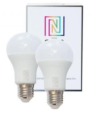 Immax Smart sada 2x žárovka E27 8,5W teplá bílá, stmívatelná, Zigbee 3.0 - rozbaleno