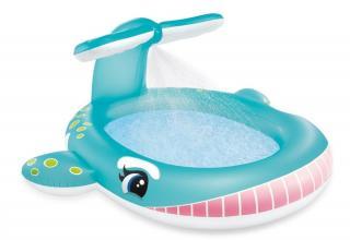 Intex 57440 Bazén dětský s rozstřikováním Velryba - rozbaleno
