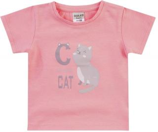 Jacky dívčí tričko 68 růžová