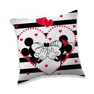 Jerry Fabrics Povlak na polštářek Mickey a Minnie in Stripes, 40 x 40 cm