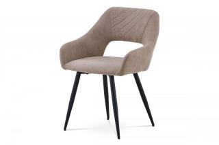 Jídelní židle HC-222 LAT2 latté / černá