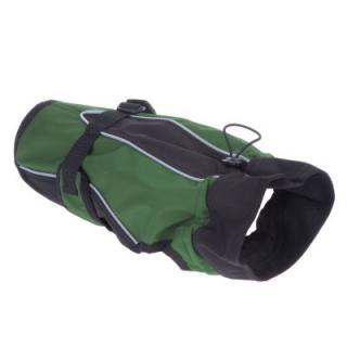Kabátek pro psy Softshell - ca. 60 cm délka zad - zelený