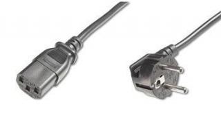 Kabel C-TECH síťový 3m VDE 220/230V napájecí PC-186-VDE-3M, kpsp3