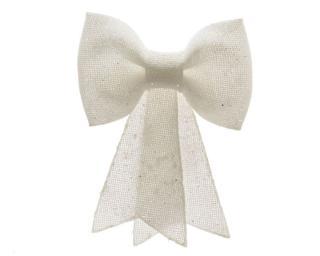 Kaemingk Mašle s glittery, 5x22x30 cm, bílá - zánovní
