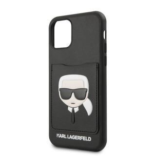 Karl Lagerfeld CardSlot Kryt pro iPhone 11 Black  - rozbaleno