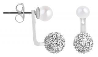 Karl Lagerfeld Dvojité náušnice s perličkami a krystaly 5465723