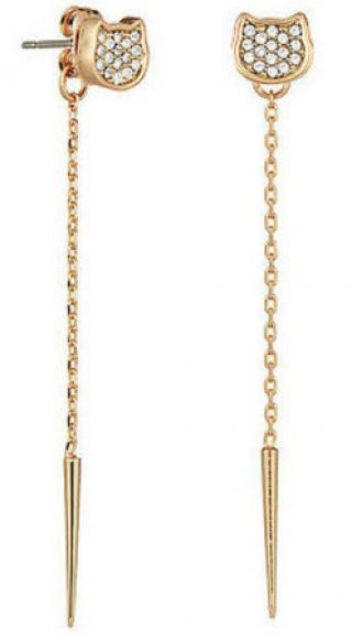 Karl Lagerfeld Kočičí náušnice Silhouette Choupette 5483562