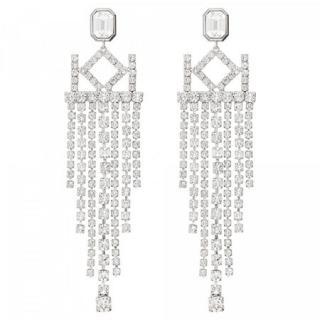 Karl Lagerfeld Luxusní náušnice s krystaly Chain Chendelier 5512207