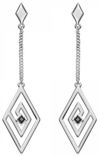 Karl Lagerfeld Luxusní náušnice s krystaly Concentric Diamond Chain 5483676