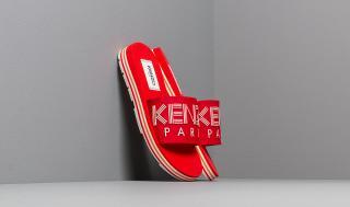 KENZO Papaya Flat Sporty Mules Medium Red