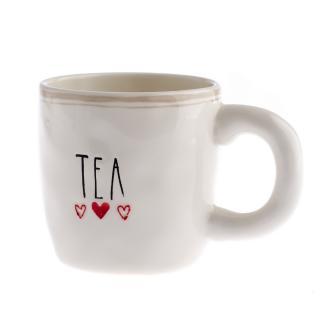 Keramický hrnek Tea 400 ml, bílá