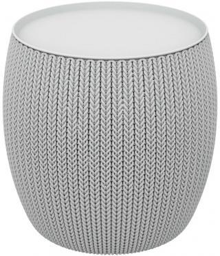 KETER KNIT SINGLE TABLE  stolek - šedý - zánovní