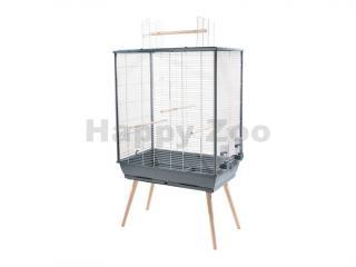 Klec pro ptáky ZOLUX Neo Jili XL šedá 132x48x81cm