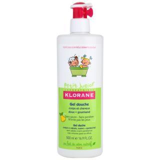 Klorane Junior sprchový gel na tělo a vlasy s vůní hrušky