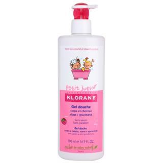 Klorane Junior sprchový gel na tělo a vlasy s vůní malin