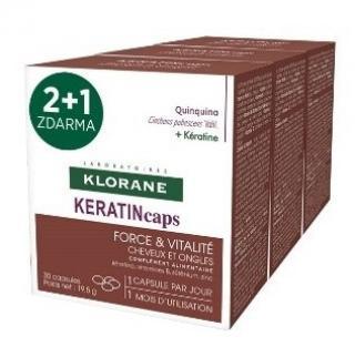 Klorane Keratincaps Síla a vitalita 90kapslí